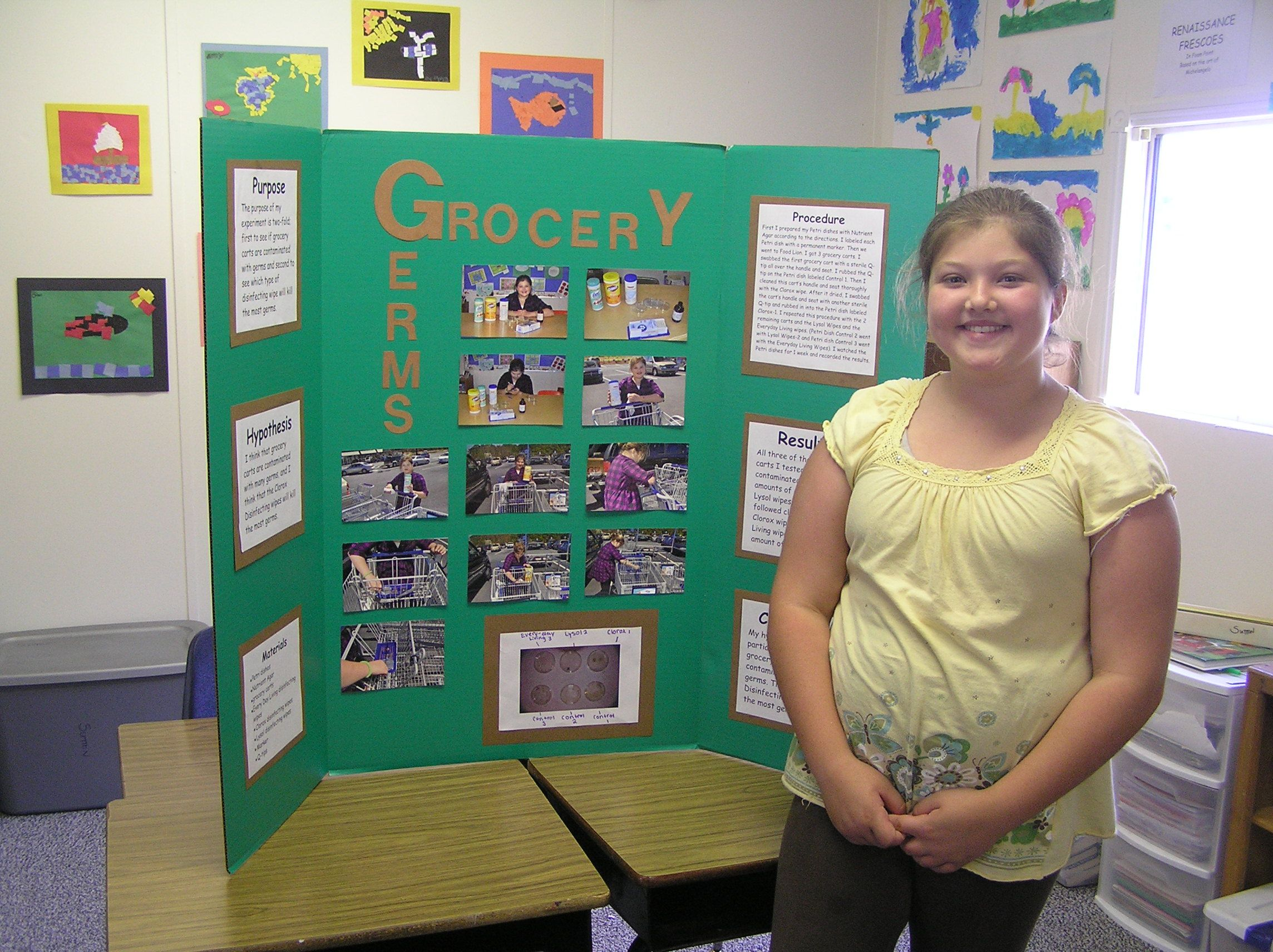 Grocery Germs What S On That Cart Handle Science Fair