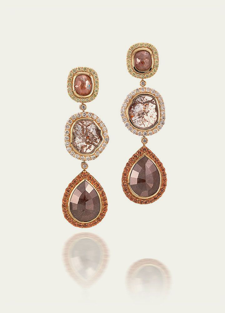 Earrings Tamsen Z Fancy Color Diamond