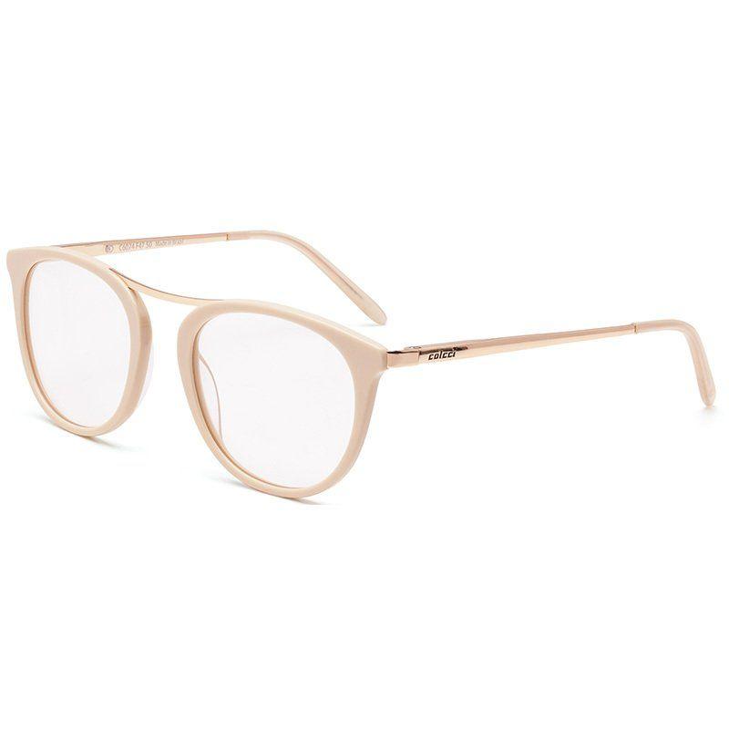 d56ef60a8a5f0 Óculos Colcci C6074 Nude com Dourado Unissex - Colcci Eyewear ...