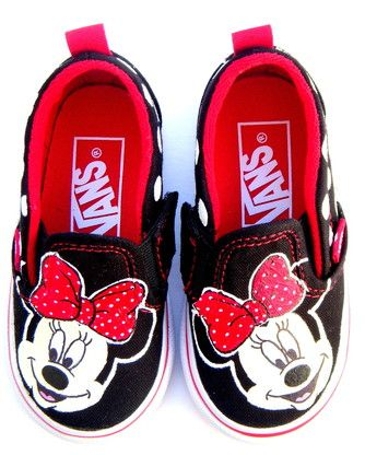 97d23523633 Minnie Mouse Painted Vans Shoes