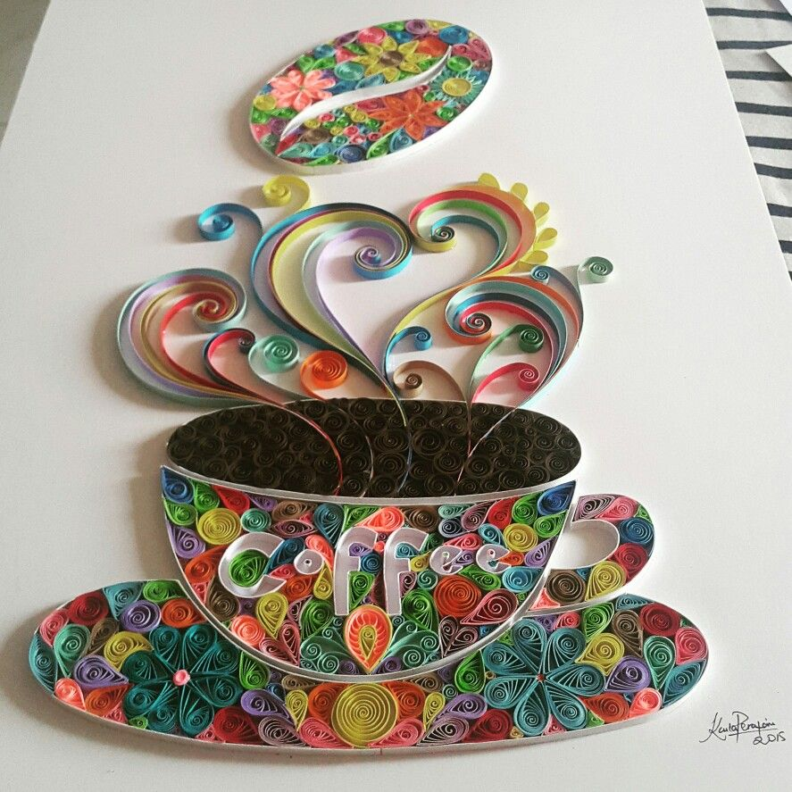 Coffee quilling paper gorgeous quill pinterest for Art design ideas for paper