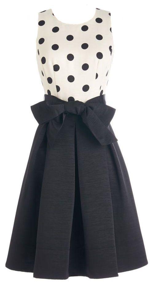 Polka Dot Bow Dress Pöttyös 272673103e