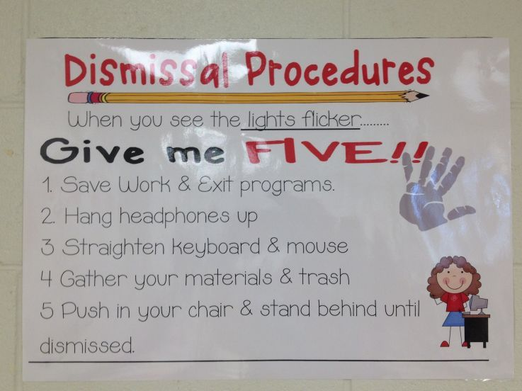 Elementary Classroom Procedures : Elementary tech teachers dismissal procedures computer