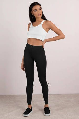 Cozy Daze Lace Up Leggings #jeanjacketoutfits