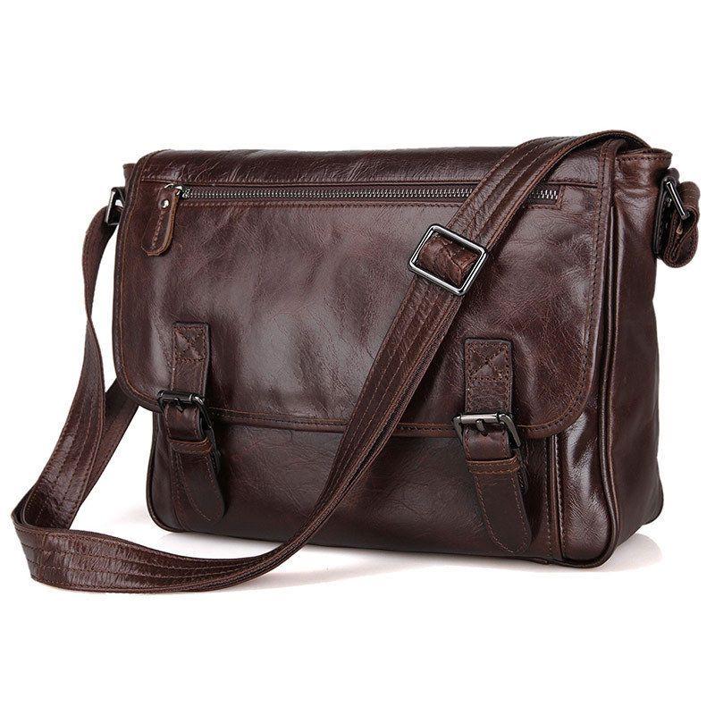 614eb2ff89a3 eBay  Sponsored Mens Genuine Leather Messenger Shoulder Bag 12 Inch Cross  Body Laptop Bag