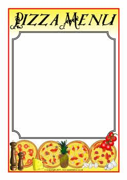Pizza menu writing frames (SB3859) - SparkleBox | Pizza ...