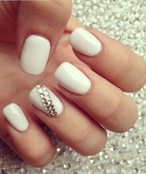 So Cute White Wedding Nail Design - So Cute White Wedding Nail Design Summer Nails Pinterest
