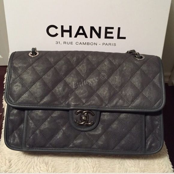 4c8c9cdc77 💕NFS CHANEL French Riviera Dark Gray Carviar Just Sharing! CHANEL 2014  Dark Gray French Riviera Caviar. Love it! Light weight than classic.😍 CHANEL  Bags