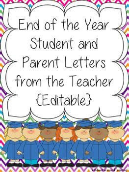 End Of The Year Teacher Letter To Students And Parents  Parents
