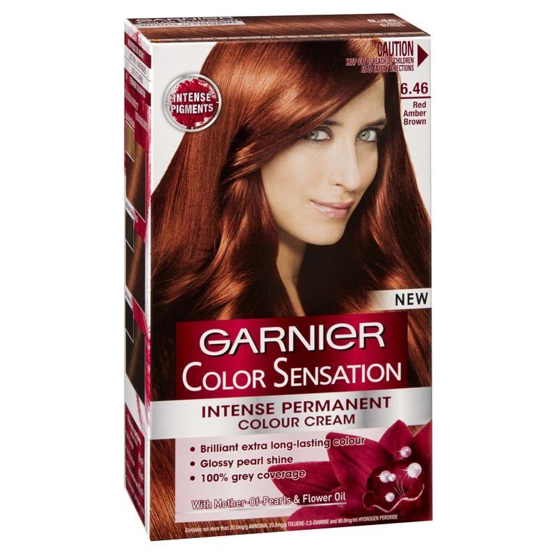 Garnier Color Sensation 6 46 Red Amber Brown Tinta De Cabelo Cabelo