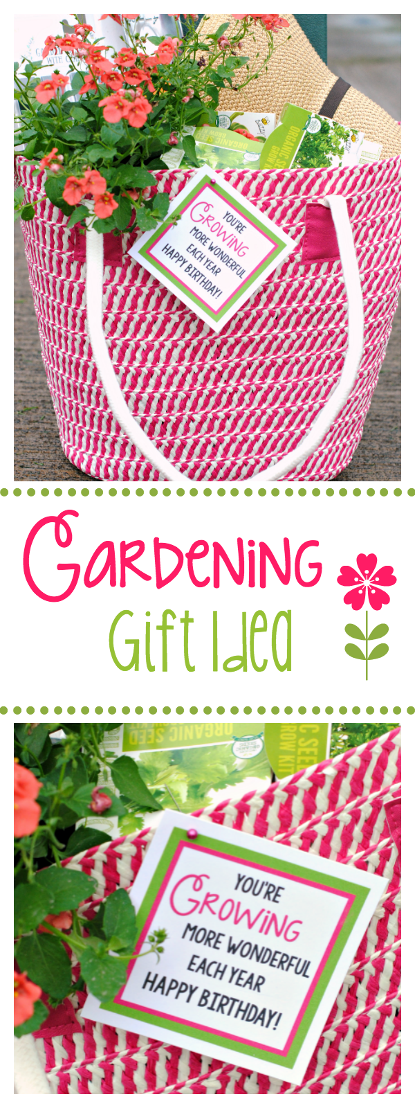 Fun Gardening Gift Basket Idea – #birthdaybasket – Fun Gardening Gift Basket Ide…