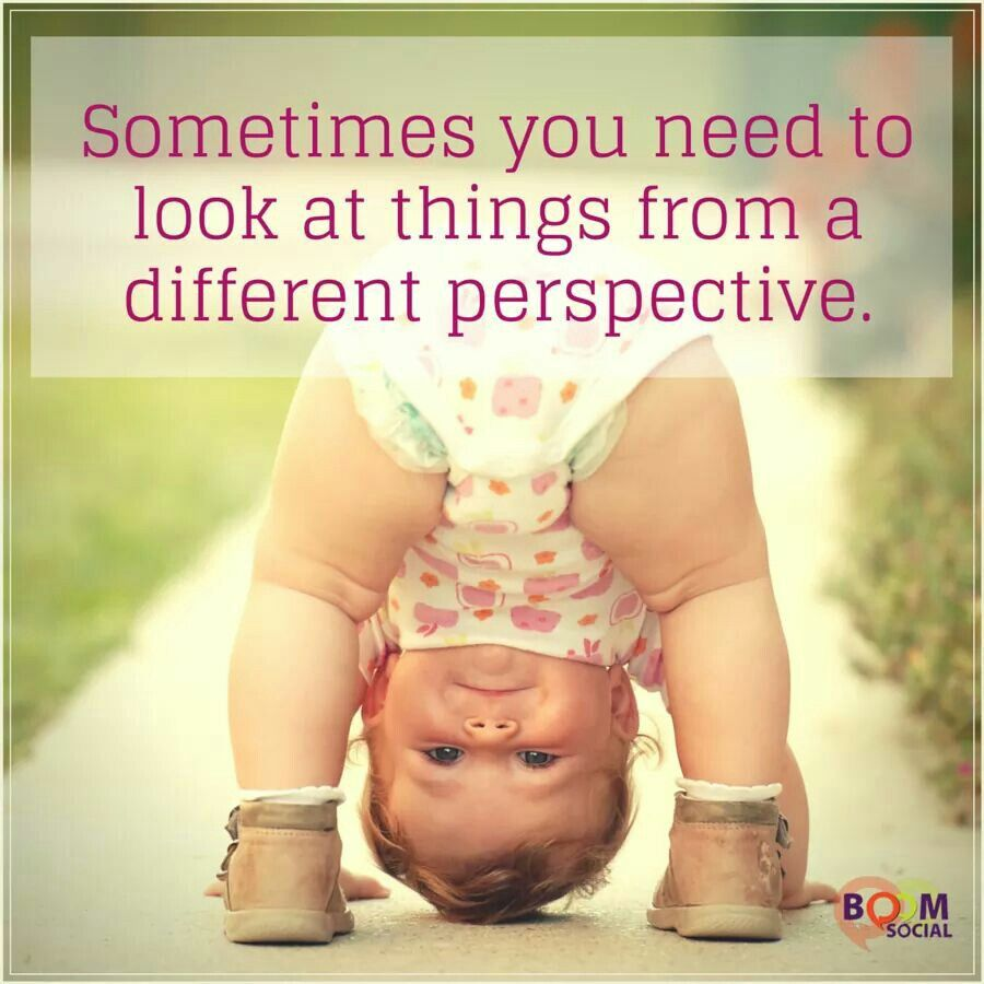 Sometimes you need to look at things from a different perspective ...