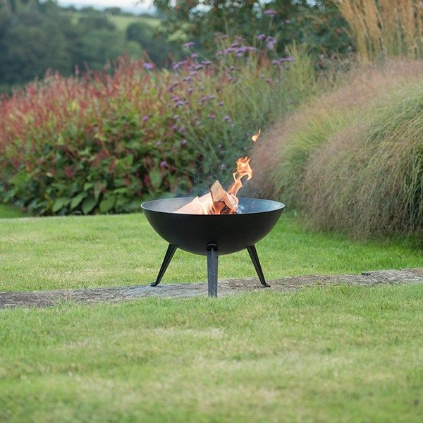 Buy Iron fire pit bowl with cast iron tripod base ...