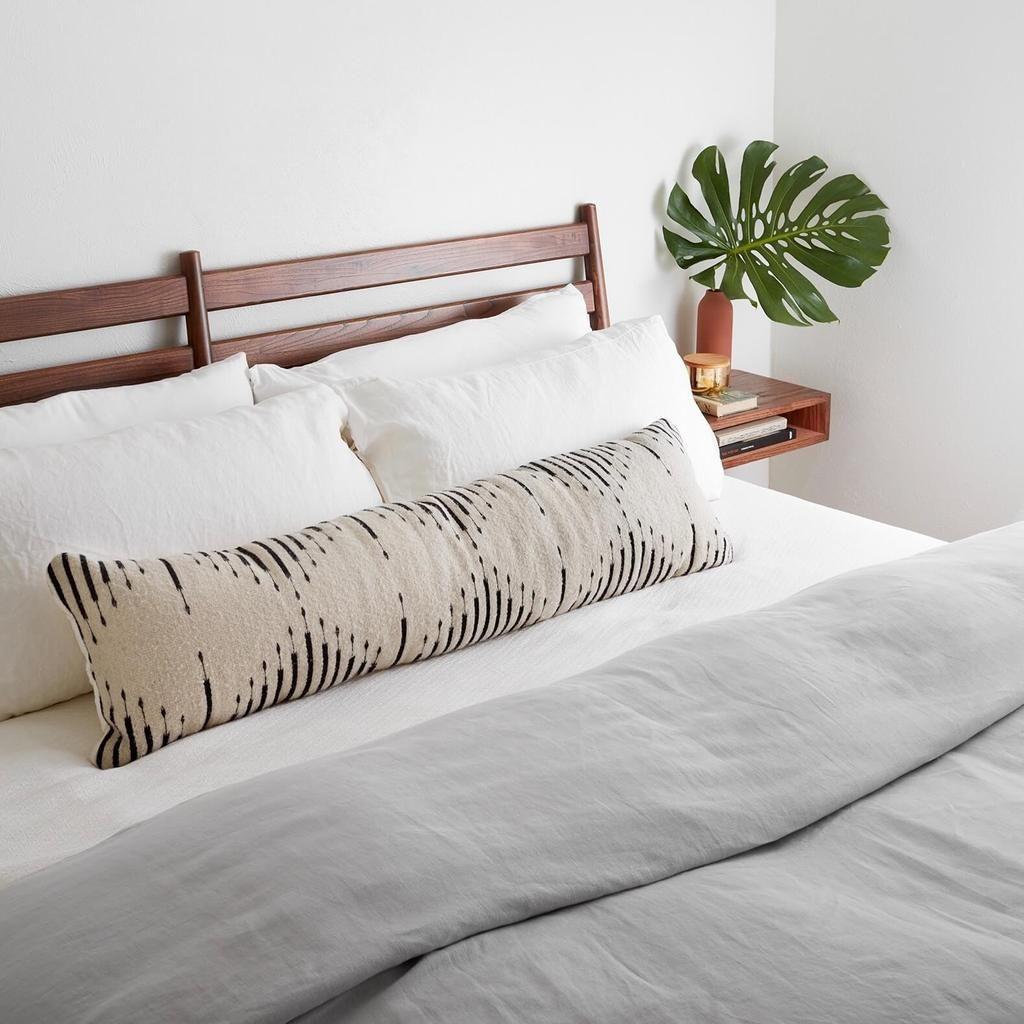 modern lumbar pillow long decorative