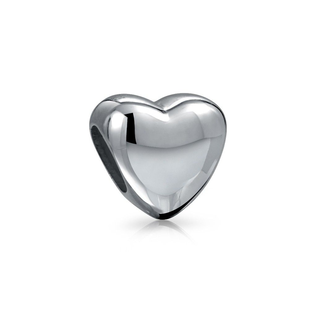 Heart Charm 925 Sterling Silver Pandora Beads Compatible