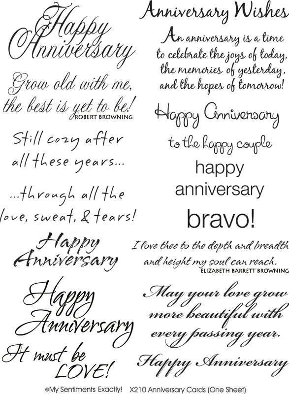 Anniversary Sentiments Card Sayings Anniversary Card Sayings Verses For Cards