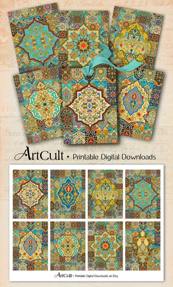 Printable digital images arabesque gift tags jewelry holders printable digital images arabesque gift tags jewelry holders scrapbooking decoupage paper moroccan ornaments downloadable greeting cards m4hsunfo