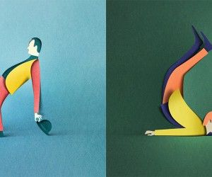 Digital Papercut Illustrations by Eiko Ojala