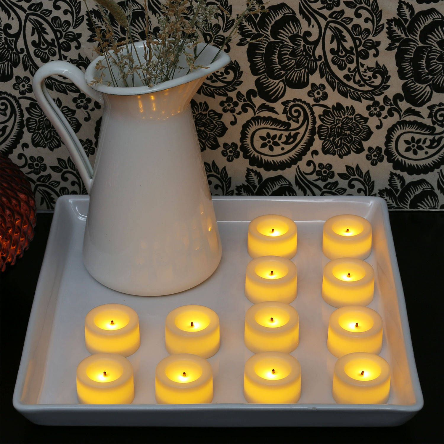 Cream Mini Flameless Votive with Faux Wick, Set of 12 for $10