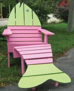 Hand Painted Adirondack Lounge Chair