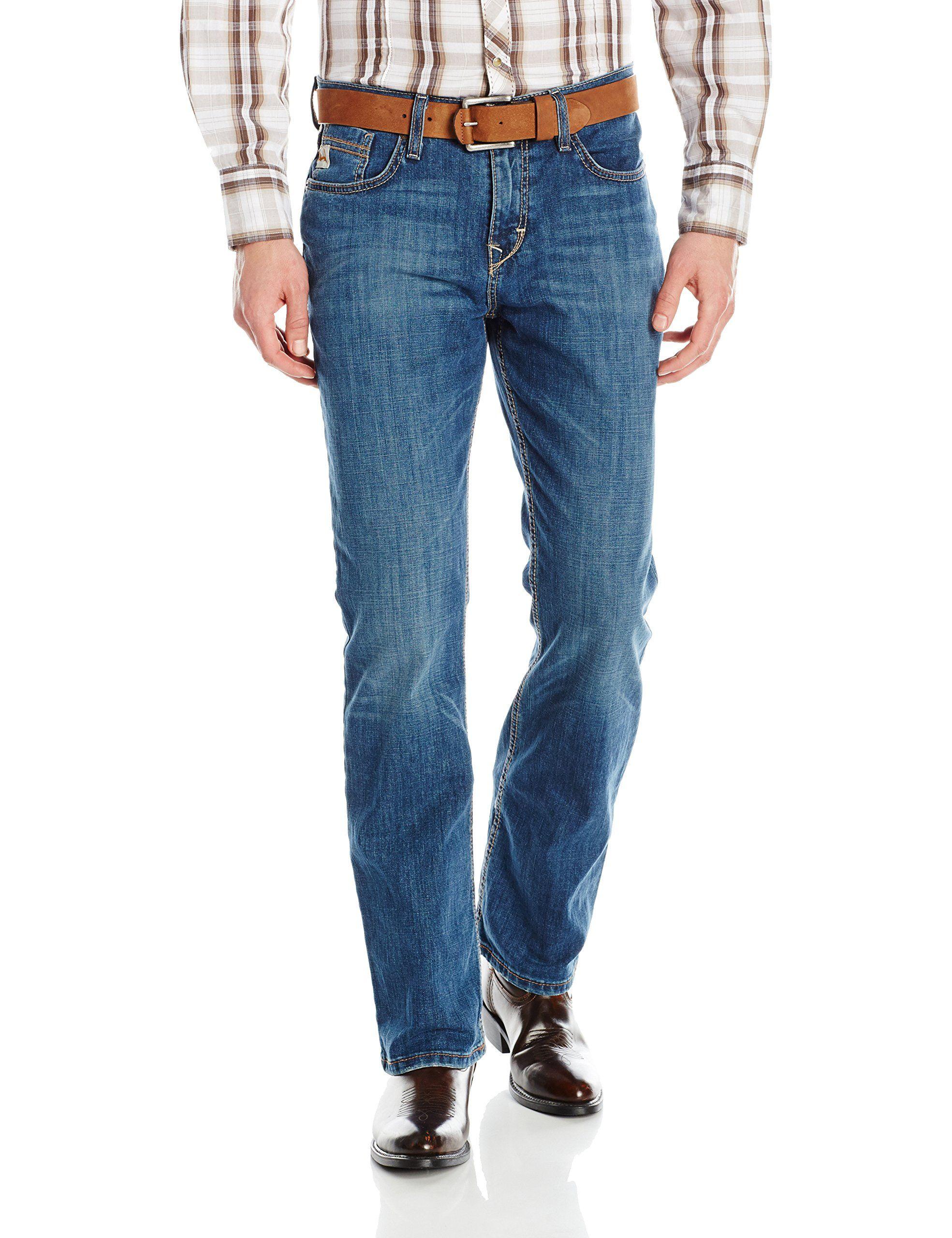 Cinch Men's Ian Slim Fit Jean, Performance Whiskered Stonewash, 34W x 38L
