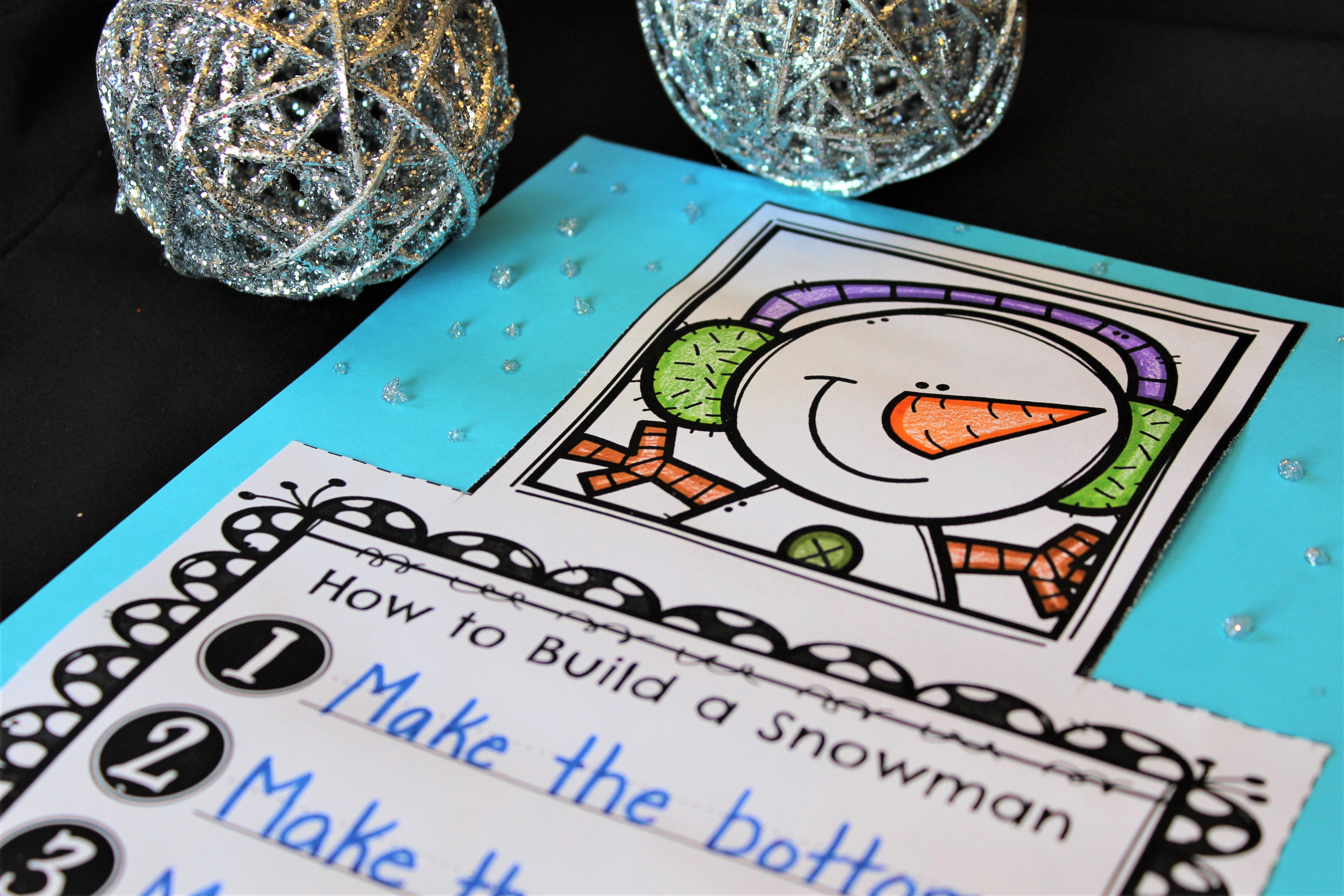 Snowman Writing Craft With Images