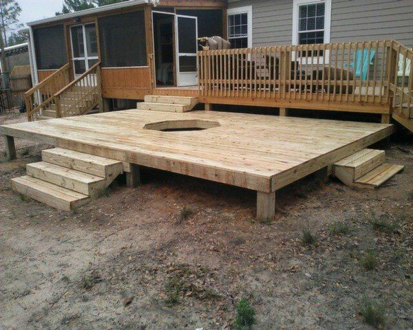 Outdoor Gas Fire Pit On Deck   Google Search