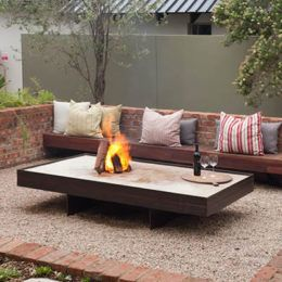 Image result for outdoor sunken sitting areas small