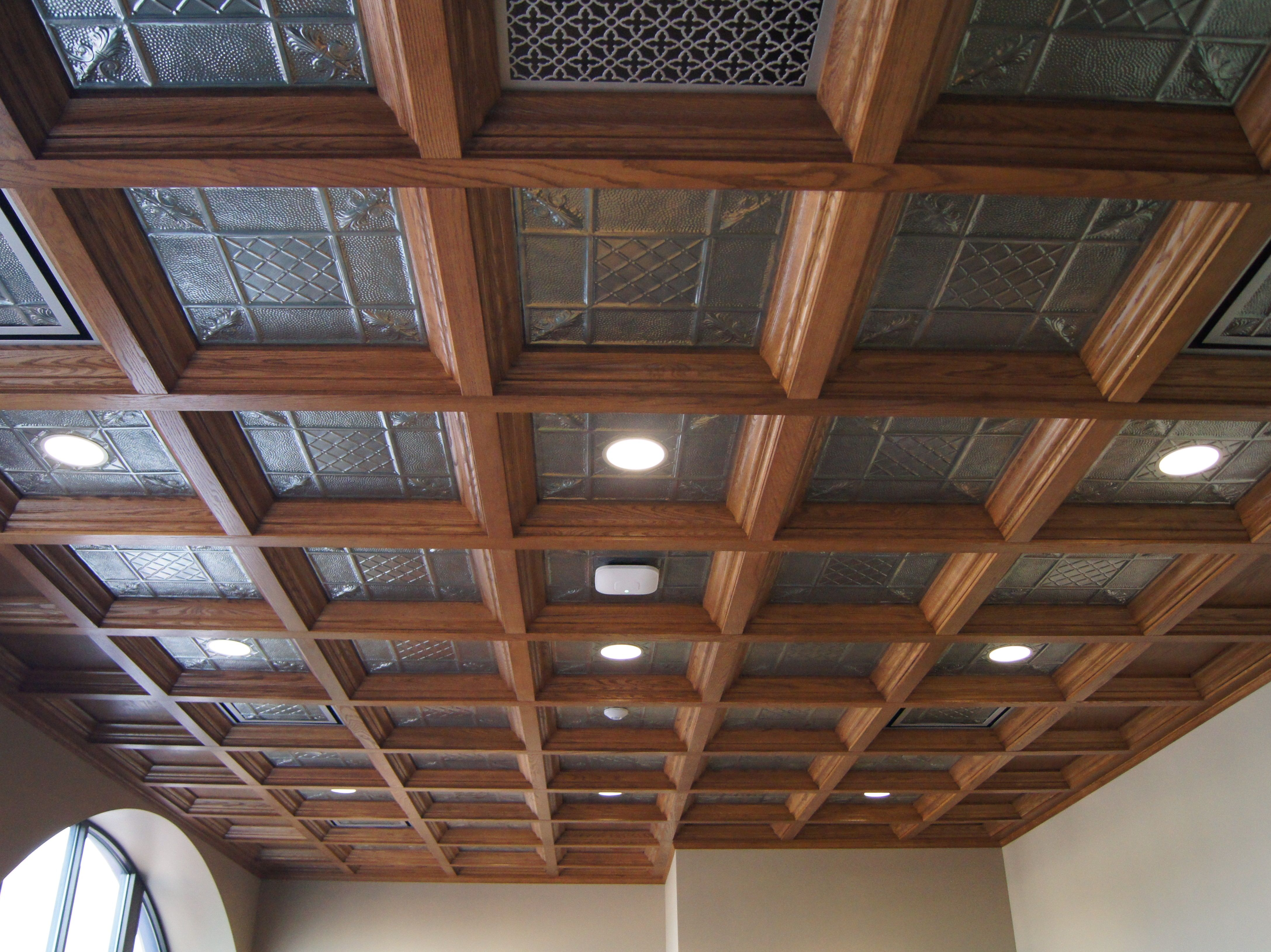 It S Standard Procedure To Painting Your Wall Surfaces A Shade While Keeping The Ceiling White We Ve Coffered Ceiling Basement Ceiling Coffered Ceiling Design