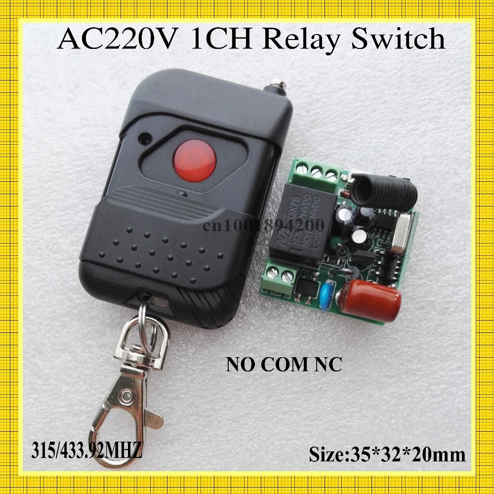 Relay Remote Switch Ac 220v 1 Channel Wireless No Com Nc Switching Value Power Controller Learning Code Toggle Rf