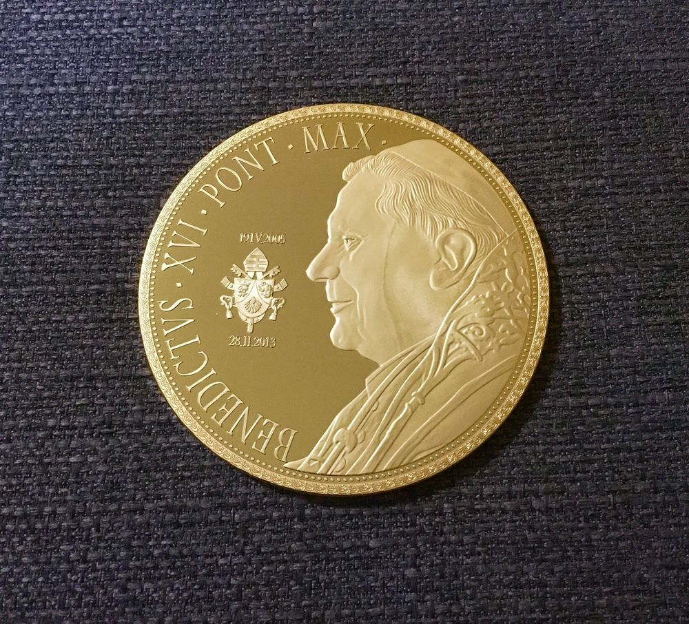 Xxxl Münze Papst Benedikt Xvi Ebay Coins Pinterest Coins