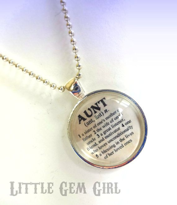 Aunt necklace for sister or mothers day dictionary definition 1 inch on sale aunt necklace for sister or mothers day dictionary definition 1 inch round glass pendant with 24 inch silver plated ball chain aloadofball Choice Image