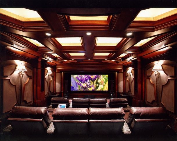 gorgeous blue hometheater wwwhomecontrolscom home theater havens pinterest basements room and entertainment room