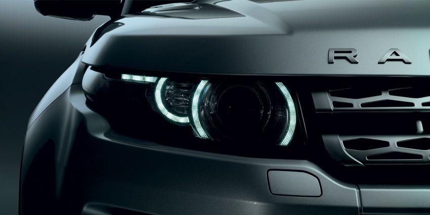 signature lighting. Range Rover Evoque Xenon Headlamps With LED Signature Lighting T