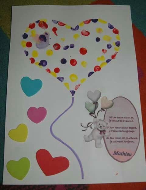 Peinture au doigt pour la St-Valentin