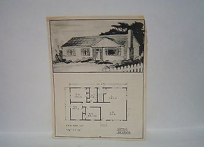 1948 The Gambles Home Pre Fab House Plan Catalog Vintage Original How To Plan House Plans The Originals
