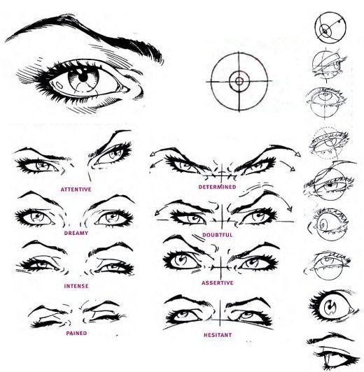 draw intense Eyes they say emotion is in the eyes. which