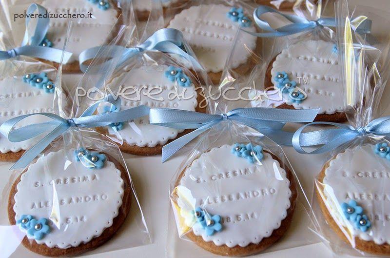 biscotti decorati frolla pasta di zucchero cresima comunione polvere di  zucchero