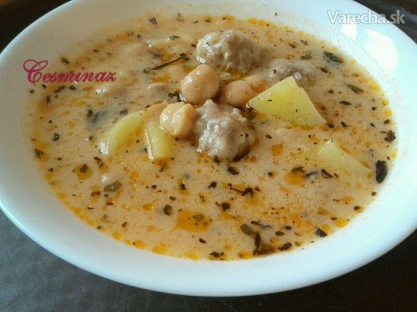Sýta jogurtovo-cícerová polievka (fotorecept) - Recept
