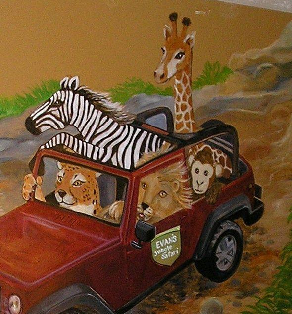 Jeep Safari Themed Wall Painting Manassas Lindsay Manassas Chrysler Dodge Jeep Ram Jeep Art Wall Painting Mural