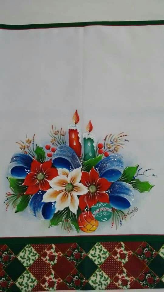 Pin de susana llerena en dise os para pintar pintura en - Motivos navidenos para pintar en tela ...