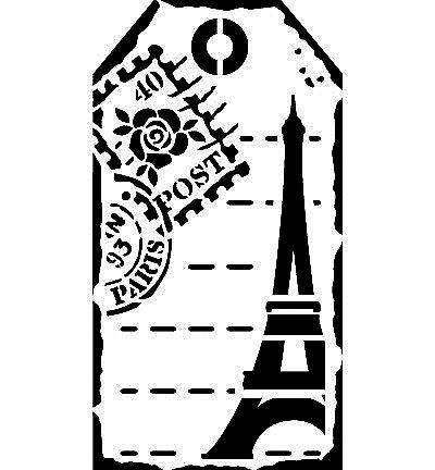 """Schablone """"Etikett Paris""""  von K-alamea auf DaWanda.com"""