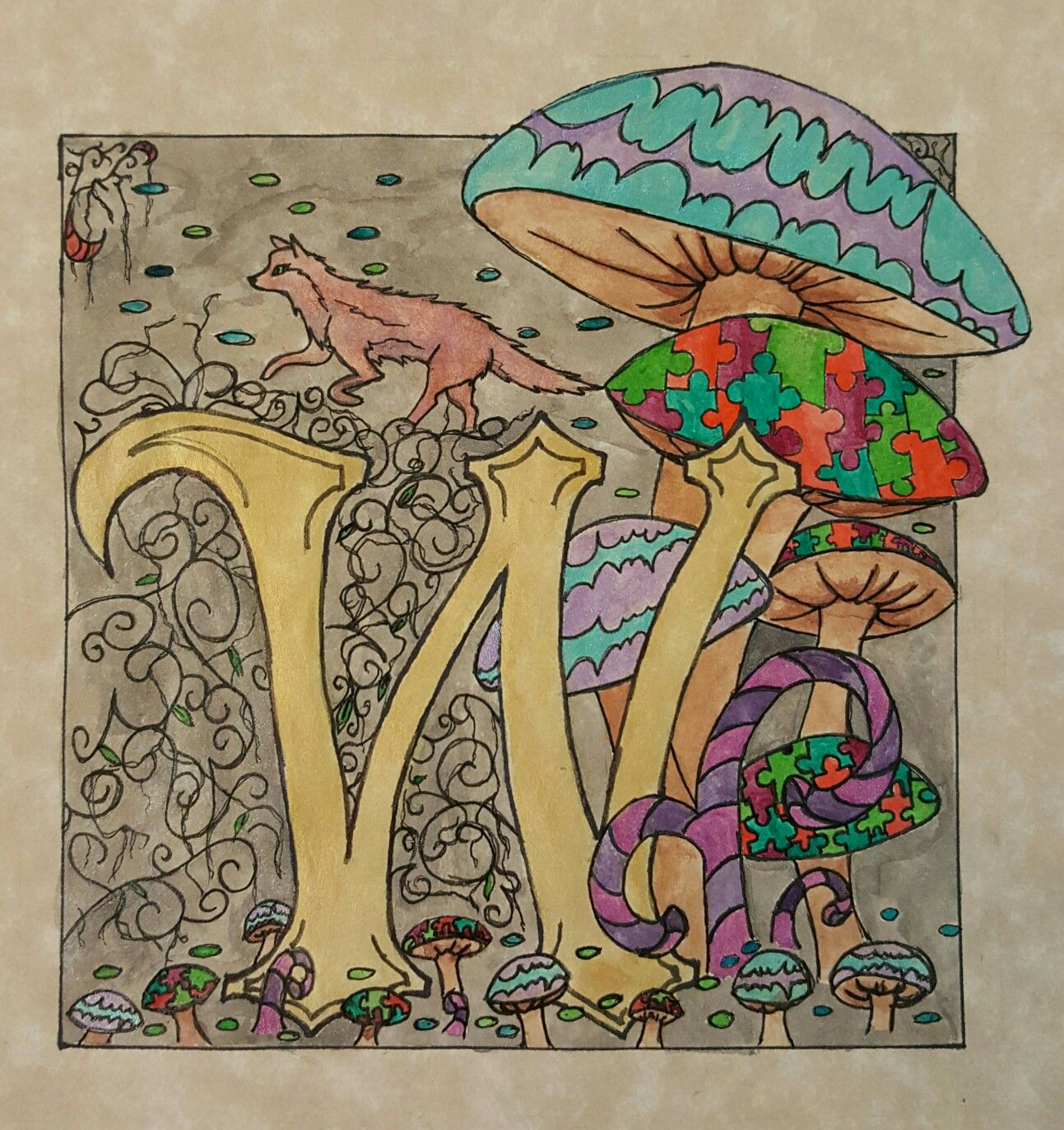 Destiny Zumwalt - Illuminated Letters Art Lesson - A Space to Create