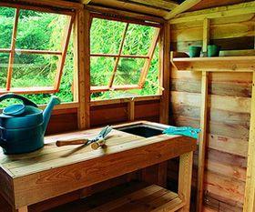 Potting Shed Interior Designs Sheds House Garden Wooden