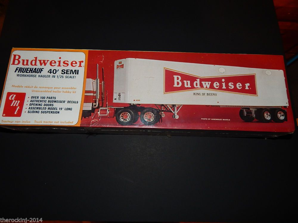 amt diamond reo truck rig 719 06 1 25 scale model kit toys toys amt 1 25 budweiser fruehauf 40 semi workhorse hauler t552