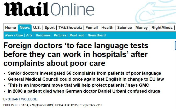 True Or False Language Tests For Doctors Are Banned Under Eu Law Read News Health Science Think Tank