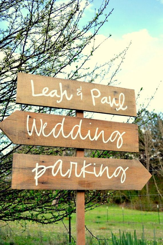 3 Custom Wedding Signs Wooden Wedding Signs By Countryblissdesigns