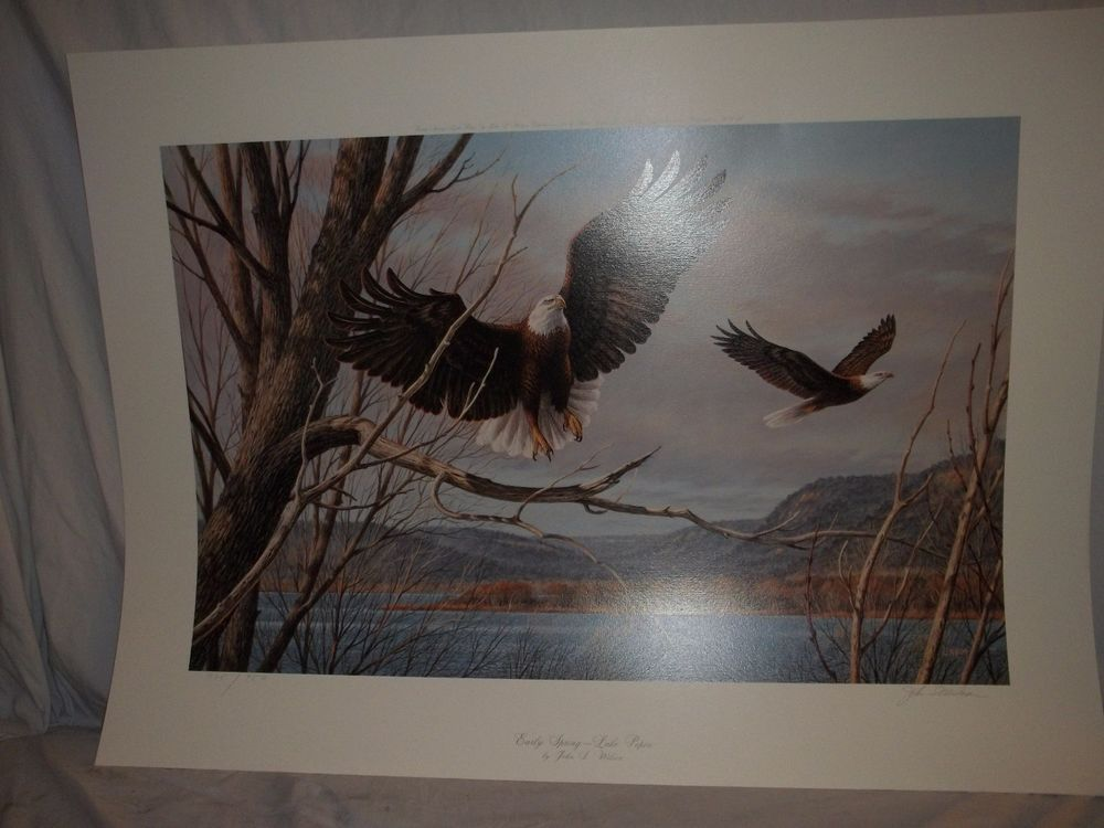 John (J.S.) Wilson Early Spring - Lake Pepin LE 735/950 1988 Eagles Water #Realism
