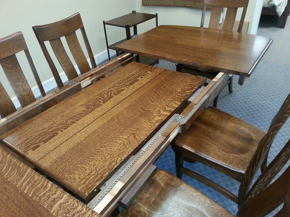 Solid Wood Gear Table With Self Stored Leaves Home Decor