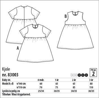 Kjole - 83003 - Stof & Stil